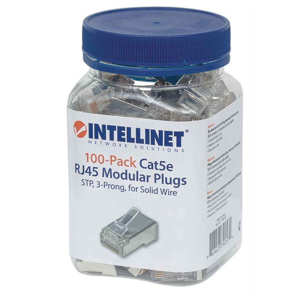 Конектори INTELLINET 790574, RJ-45, STP, Cat 5e, 100 броя image