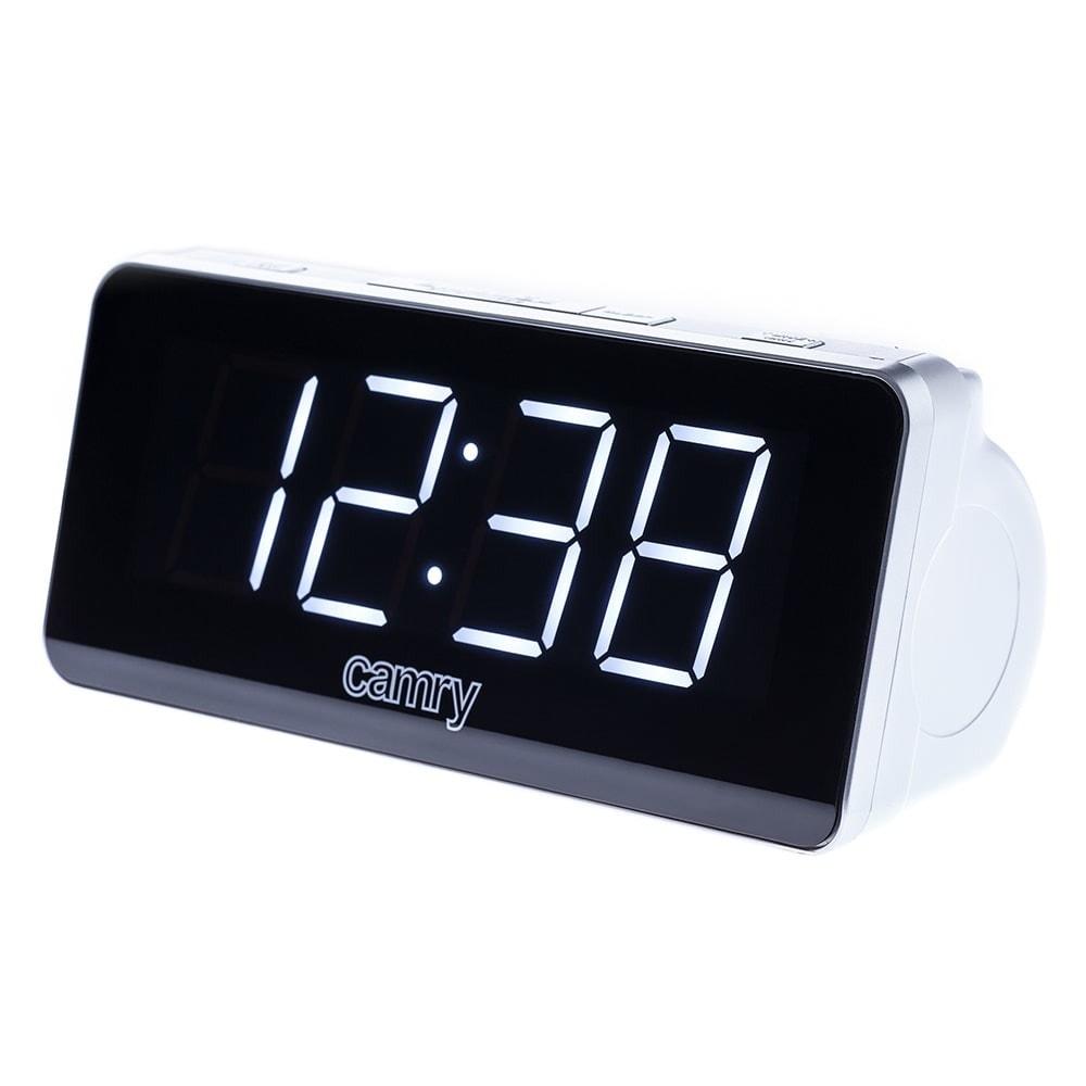 Радиочасовник Camry CR 1156, LCD дисплей, AM/FM тунер, 2 аларми, функция за отлагане таймер за автоматично изключване, черно-бял image