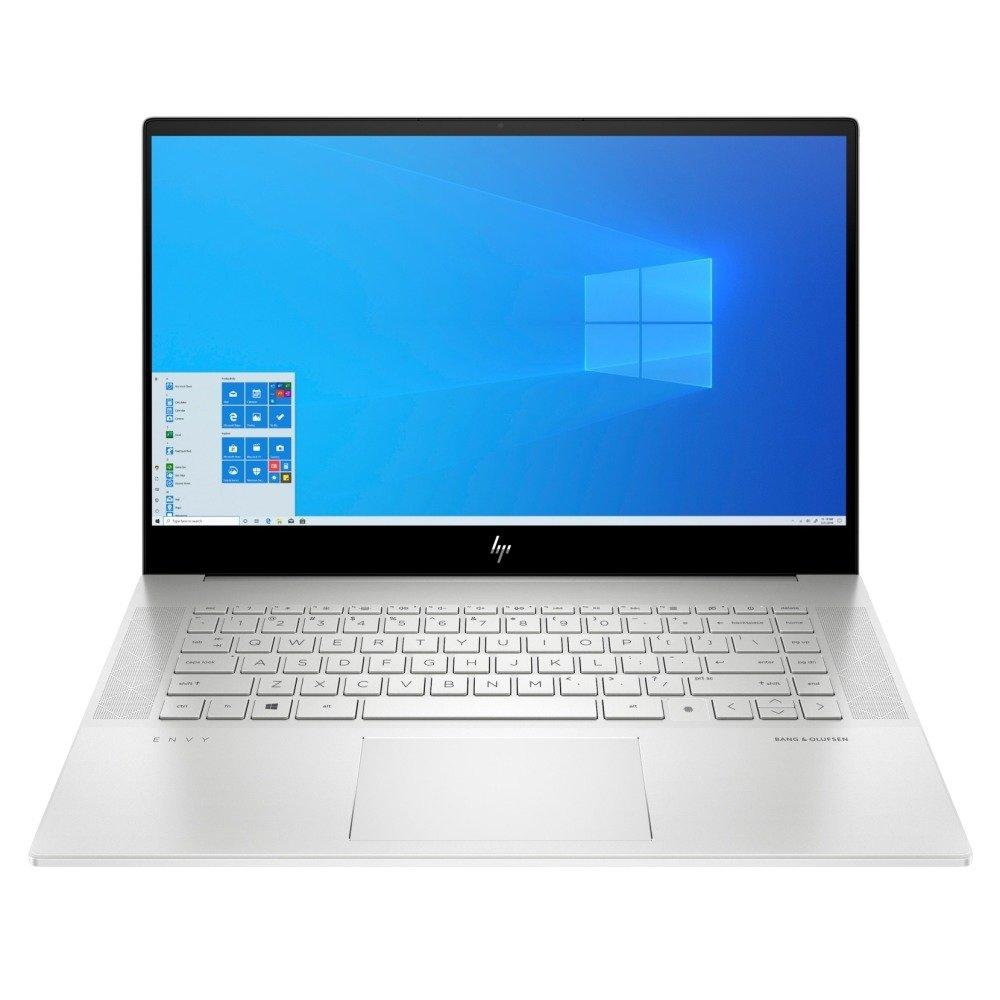 "Лаптоп HP Envy 15-ep0000nu (1Q9N1EA_1C1Y5AA)(сребрист), с подарък USB хъб HP, четириядрен Comet Lake Intel Core i5-10300H 2.5/4.5 GHz, 15.6"" (39.62 cm) Full HD IPS Anti-Glare Display & GF GTX 1650Ti 4GB, (HDMI), 16GB DDR4, 1TB SSD, Windows 10 Home image"