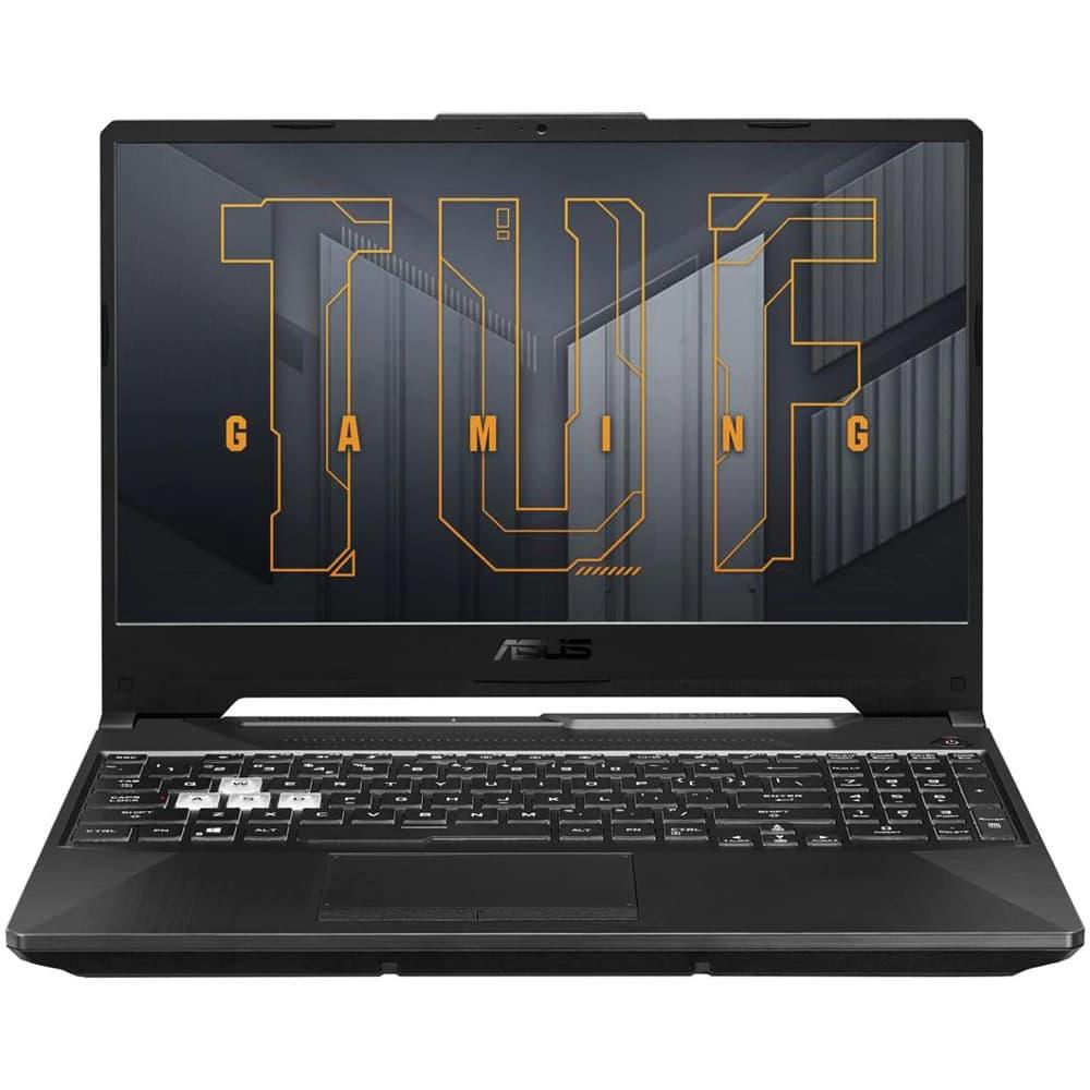 "Лаптоп Asus TUF F15 FX506HM-AZ121 (90NR0753-M04000)(сив), осемядрен Tiger Lake Intel Core i7-11800H 2.3/4.6 GHz, 15.6"" (39.62 cm) Full HD IPS 240Hz Anti-Glare Display & GF RTX 3060 6GB, (HDMI), 16GB DDR4, 512GB SSD, No OS image"