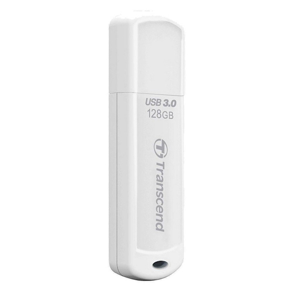 Памет 128GB USB Flash Drive, Transcend JetFlash 730, USB 3.0, бяла image