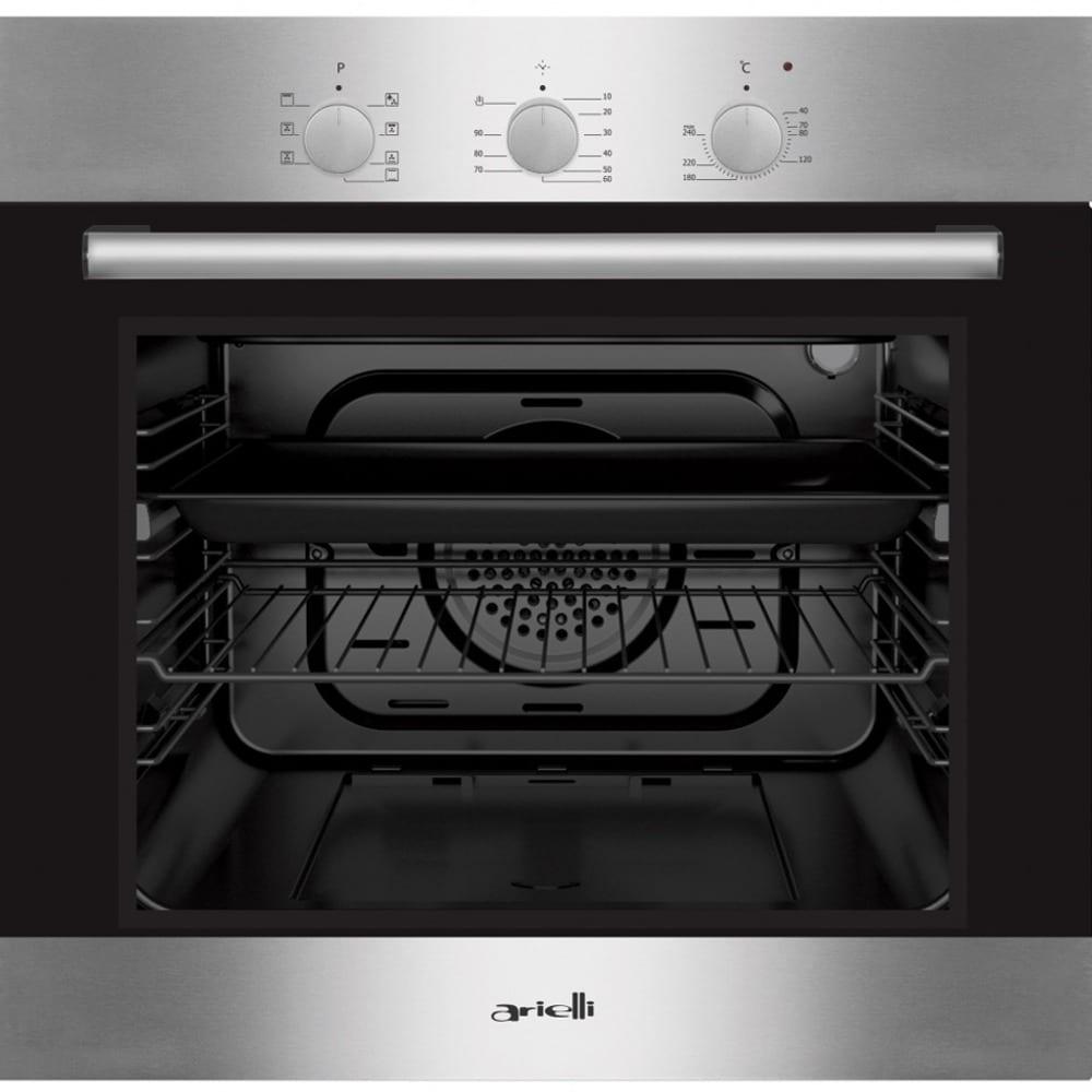 Фурна за вграждане Arielli AME-760NSS, 60 л. обем, 2 нива на готвене, 7 функции, таймер, допълнително охлаждане, сива image