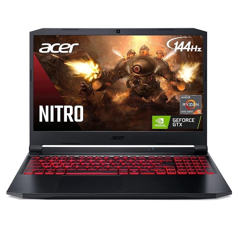 "Лаптоп Acer Nitro 5 AN515-45 (NH.QBCEX.00Q), осемядрен AMD Ryzen 7 5800H 3.2/4.4GHz, 15.6"" (39.62 cm) Full HD IPS 144Hz Anti-Glare Display & GF 3060 6GB, (HDMI), 16GB DDR4, 512GB SSD, 1x USB Type-C, No OS image"