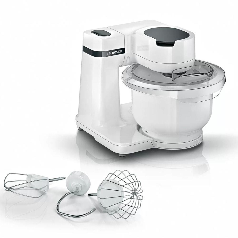 Кухненски робот Bosch MUMS2AW00, 4 скорости, 3.8 л. капацитет, алуминиева бъркалка с незалепващо покритие, 700W, бял image