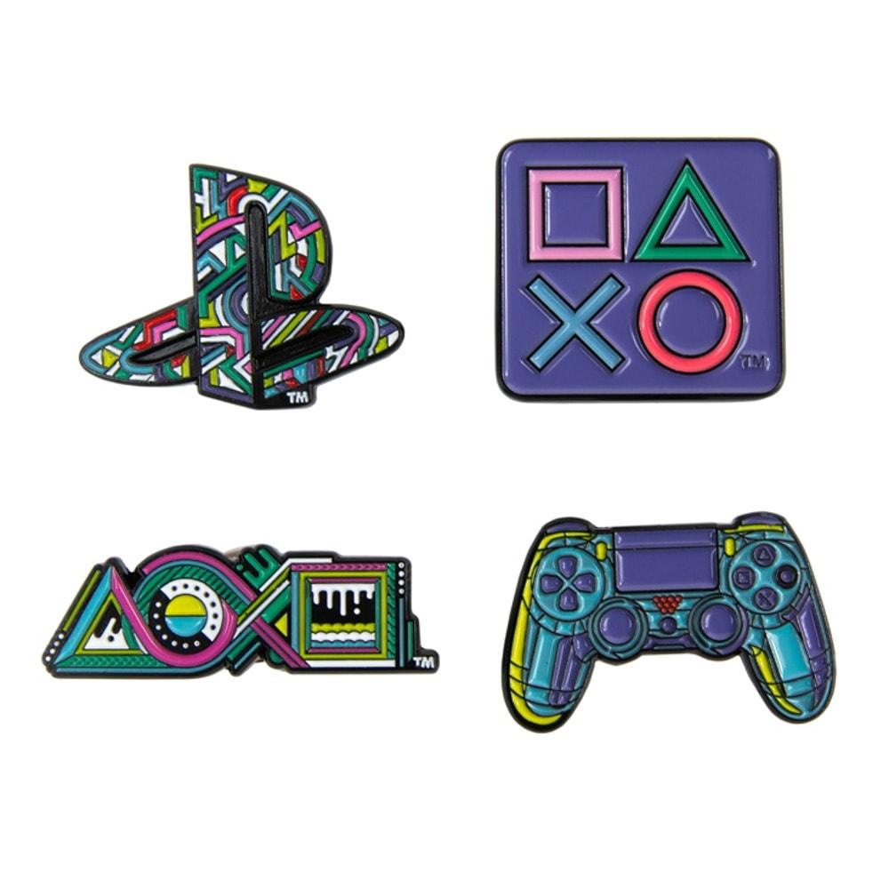 Значки PlayStation 25th Anniversary Pin Badge Set – Limited Edition, 4 броя, метални image
