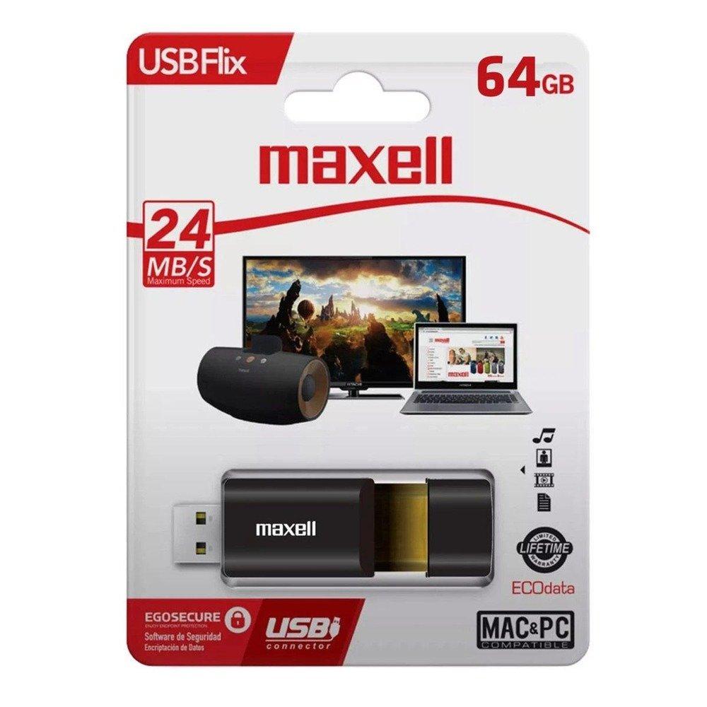 Памет 64GB USB Flash Drive, Maxell FLIX, USB 3.0, черна image