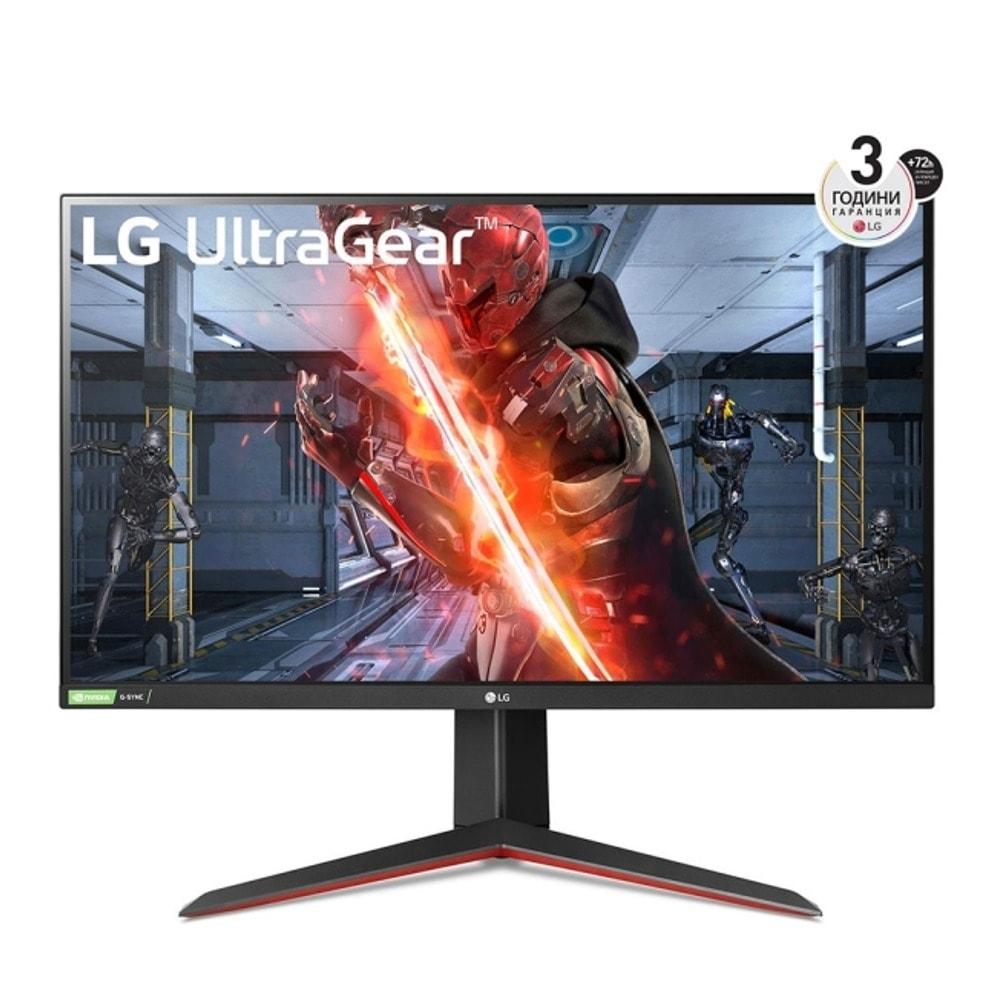 """Монитор LG 27GN850-B с подарък разклонител Allocacoc Power Cube WiFi 9610, 27"""" (68.58 cm) IPS панел, 144Hz, QHD, 1ms, 350 cd/m2, DisplayPort, HDMI image"""