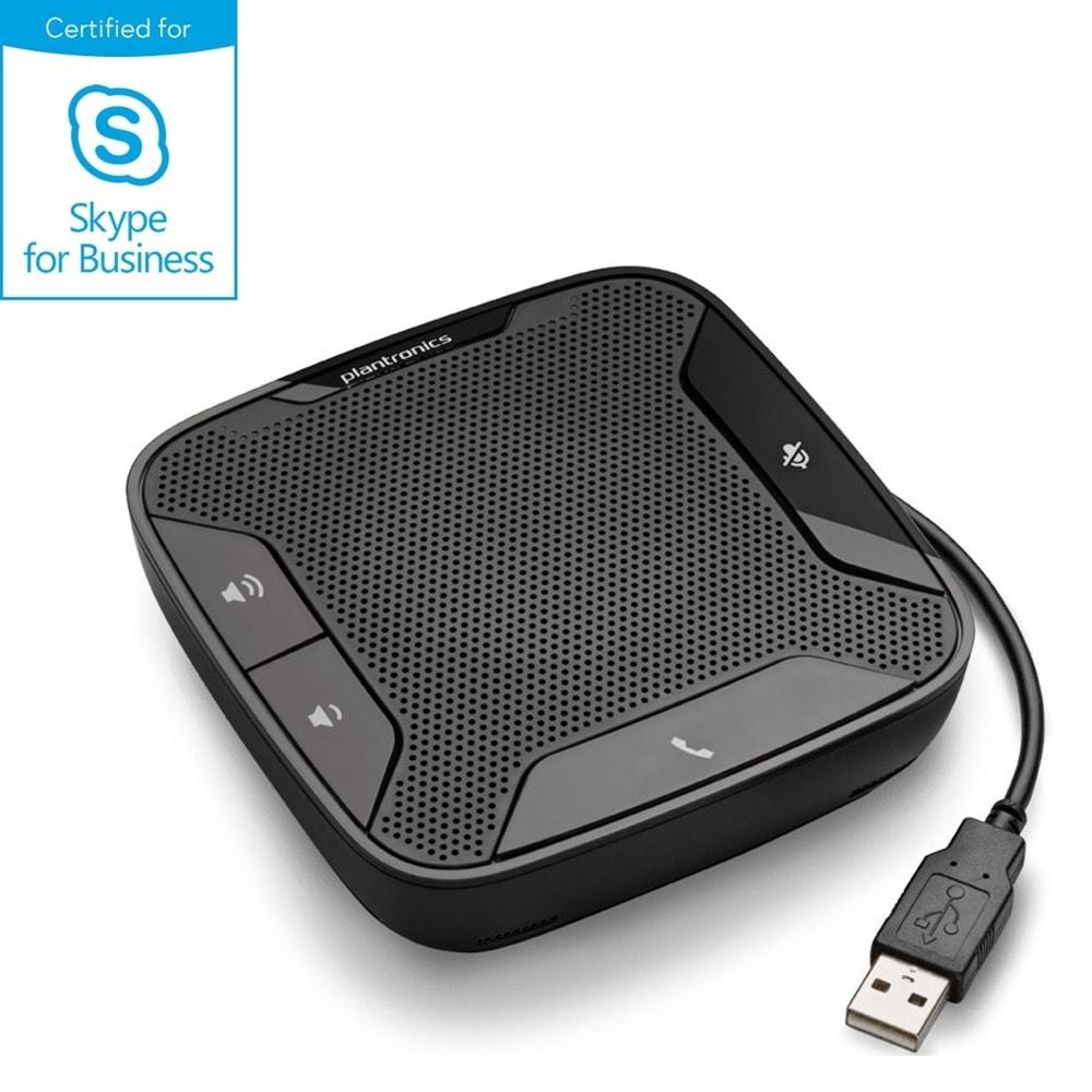Конферентна станция Plantronics Calisto 610-M, USB-A, двоен микрофон, сертифицирана за Skype for Business и оптимизирана за Microsoft Lync, черна image