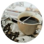 Часовник Hama Coffee, аналогово указание, бял image