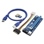 Контролер/екстендер OEM VER-007. от PCI-E x1 към PCI-E x16 чрез USB 3.0, в комплет с кабел от SATA power към 4-pin molex image