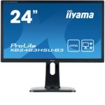 "Монитор IIYAMA XB2483HSU-B3, 23.8""(60.45 cm) AMVA панел, Full HD, 4ms, 80000000 : 1, 250 cd/m², HDMI, DisplayPort image"
