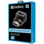 Преходник Sandberg SNB-508-61, от HDMI(ж) към HDMI(м), ъглов, черен image