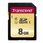 8GB SDHC, Transcend 500S, Class 10 UHS-I U1, скорост на четене 95MB/s, скорост на запис 65MB/s image