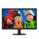 """Монитор 23.6"""" (59.94 cm) Philips 243V5LHSB, TFT-LCD панел, Full HD, 1 ms, 10 000 000:1, 250cd/m2, HDMI, DVI image"""