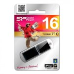 16GB USB Flash Drive, Silicon Power LuxMini 710, USB 2.0, черна image