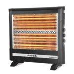 Кварцова печка ASEL AS H 70-17, 2800W, 4 степени на мощност, предпазител, черна  image