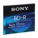 Blu-ray disk Single layer media, Sony, 25GB, 6x (216Mbit/s) image