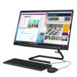 "All In One компютър Lenovo Ideacentre A340-24ICB (F0E600GFRI), шестядрен Coffee Lake Intel Core i5-9400T 1.8/3.4 GHz, 23"" (58.42 cm) FULL HD WVA Anti-Glare Display & Radeon 530 2GB, 8GB DDR4, 512GB SSD, 2x USB 3.1Free DOS  image"
