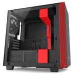 Micro ATX/miniITX, NZXT H400i, 2x USB 3.1 Gen 1, темперирано стъкло, RGB LED, черна/червена, без захранване image