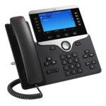 "VoIP телефон Cisco IP Phone 8841, 5.0""(12.70 cm) WVGA цветен LCD сензорен дисплей, 5 линии, PoE, 2x 10/100/1000Base-T, черен image"