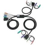 KVM Switch ATEN CS62D, DVI, 2x 1, PS2, Audio (Speaker & Mic) image