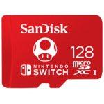 Карта памет 128GB microSDXC SanDisk, UHS-I, скорост на четене 100МB/s, скорост на запис 90MB/s, за Nintendo Switch image