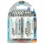 Акумулаторна батерия Ansmann, Mono D, HR20, Ni-Mh , 1.2V, 10000 mAh, NiMH, 2 бр. image