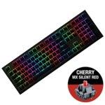 Клавиатура Ducky Shine 7 Gunmetal Gray RGB, гейминг, механична (Cherry MX Silent Red), черна, USB image