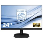 "Монитор Philips 243V7QJABF, 23.8"" (60.45 cm) IPS панел, Full HD, 5 ms, 10000000:1, 250 cd/m2, HDMI, DisplayPort image"