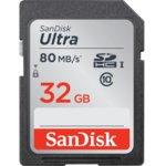 Карта памет 32GB SDHC, SANDISK Ultra, Class 10, скорост на четене до 80 Mb/s image