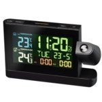 Електронна метеостанция Bresser Meteo TP, цветен дисплей, прожектор, будилник с функция за дрямка, черен image