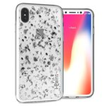 Калъф за Apple iPhone XS, хибриден, iPaint Glitter Flakes 840701, прозрачен image