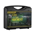 Ловен комплект Nitecore CG6 Hunting Kit, включващ фенер Nitecore CG6, калъф за фенера, зарядно устройство, батерия, зарядно за кола и др. image