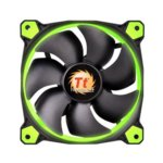Вентилатор 120mm, Thermaltake Riing, Green LED Light, 3–пинов, 1500rpm image