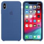 Калъф за iPhone XS Max, Apple Silicone Case - Delft Blue, силикон, син image