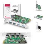 Контролер AXAGON PCEU-430V, от PCI-Express/1-Lane към USB 3.0/UASP/4-port output image