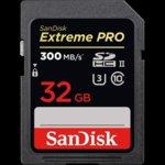 Карта памет 32GB SDHC, SANDISK Extreme PRO, Class 10, скорост на четене до 300 Mb/s, скорост на запис до 260 MB/s image