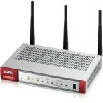 Firewall ZyXEL USG20W-VPN, 802.11ac/n Wireless (3x3/80MHz), 10x VPN (IPSec/L2TP), up to 15 SSL (5 included), 1x WAN, 1x SFP, 4x LAN/DMZ, 1x USB port image