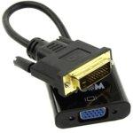 Преходник VCom CG491-0.15m, активен преобразувател, от DVI-D(м) към VGA(ж), 0.15м, черен image