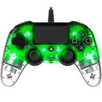 Nacon PS4 - Wired Illuminated crystal green