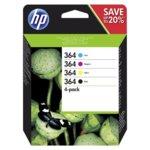 КАСЕТА ЗА HP Photosmart 5515/6510/7510/C5380/C6380/D5460/Pro B8550 - 4-Pack - 364 - P№ N9J73AE - заб.: 300k image