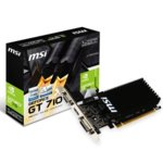 Видео карта nVidia GeForce GT 710, 1GB, MSI GT 710 1GD3H LP, PCI-E 2.0, DDR3, 64 bit, HDMI, DVI, D-Sub image