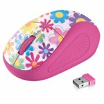 Мишка Trust Primo Wireless Mouse, оптична (1600dpi), безжична, USB, розова-текстура image