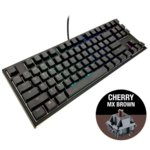 Клавиатура Ducky One 2 RGB TKL, гейминг, механична (Cherry MX Brown), бяла, USB image