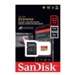 32GB microSDHC, SANDISK Extreme, с SD адаптер, Class U3, скорост на четене до 90MB/s, скорост на запис до 60MB/s image