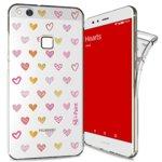 Калъф за Huawei P10 Lite, термополиуретанов, iPaint Glamour Hearts 560611, щампа image