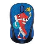 Мишка Logitech M238 Doodle SNEAKER HEAD, оптична(1000 dpi), безжична, USB, щампа image
