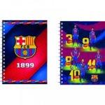 Тетрадка Barcelona, формат A4, офсетова хартия широки редове, 64 листа, две теми, спирала image