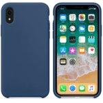 Калъф за Apple iPhone XR, силиконов, Soft touch, син image