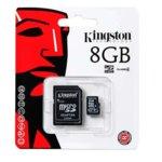 8GB microSDHC с адаптер, Kingston, Class 4, скорост на четене 4MB/s, скорост на запис 4MB/s image